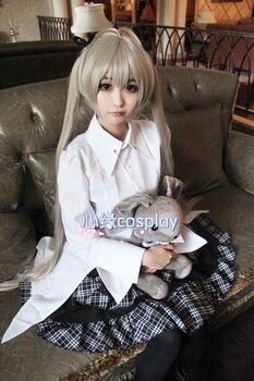Anime Yosuga no Sora Kasugano Sora Cosplay Costume Lolita Dress Outfit+Wig+Rabbit Plush Toy Halloween Party Costumes for Women 1
