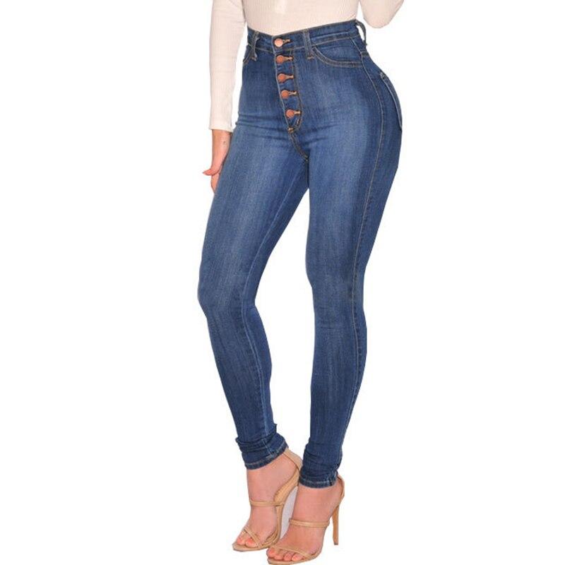 Style d'été 2018 Trou Déchiré Jeans Femmes Jeggings Frais Denim Pantalon Taille Haute Capris Femelle Skinny Bleu Jeans Occasionnels