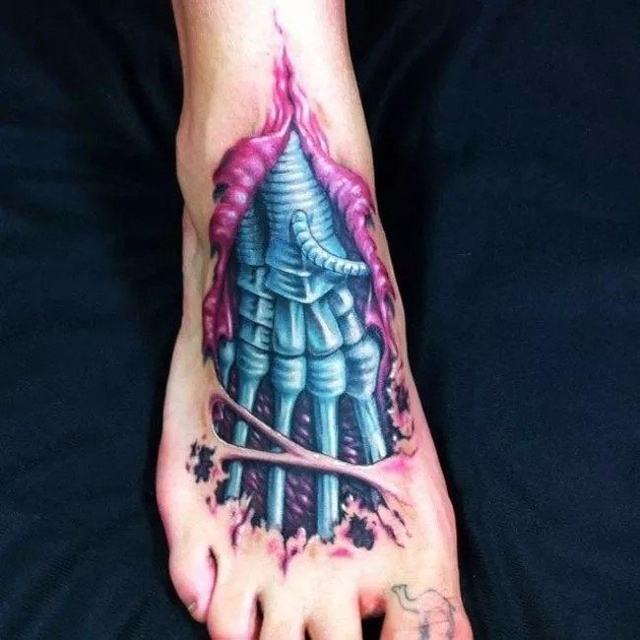BESTE Fran fansWaterproof Temporäre Tattoo 3D feathercatflower mädchen tatto aufkleber tattoo fake tattoos 4