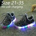 Eur 21-35 2016 crianças novas crianças sapatos da moda com led light up shoes luminous glowing tênis levou para o bebê boys & girls sports