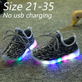 Eur 21-35//2016 niños nuevos niños de la manera zapatos con luz led para arriba los zapatos zapatillas luminoso que brilla intensamente led para bebés y las muchachas deportes