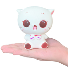 цена на Jumbo Cute Cat Squishy Cartoon Doll Squeeze Toys Slow Rising Soft Cream Scented Stress Relief Original Package Kid Baby Gift Toy