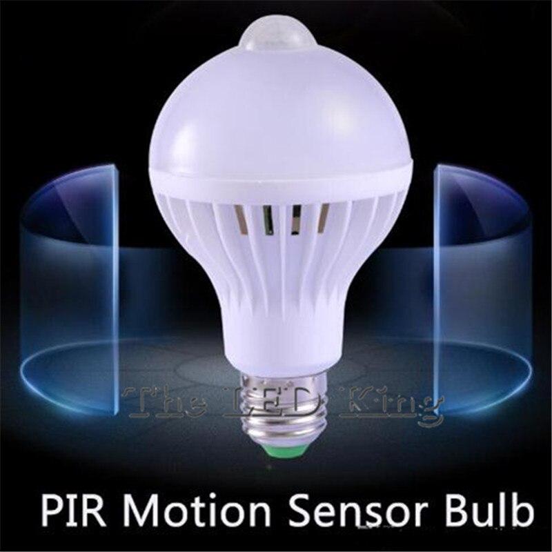 Светодиодный PIR датчик движения лампа 12 Вт 7 Вт 9 Вт 220 В светодиодный E27 Лампа Авто умный инфракрасный звук + датчик движения светильник 3 Вт 5 В...