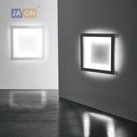 LED Modern Geometric Iron Acryl Black White LED Lamp LED Light Wall lamp Wall Light Wall Sconce For Store Bedroom