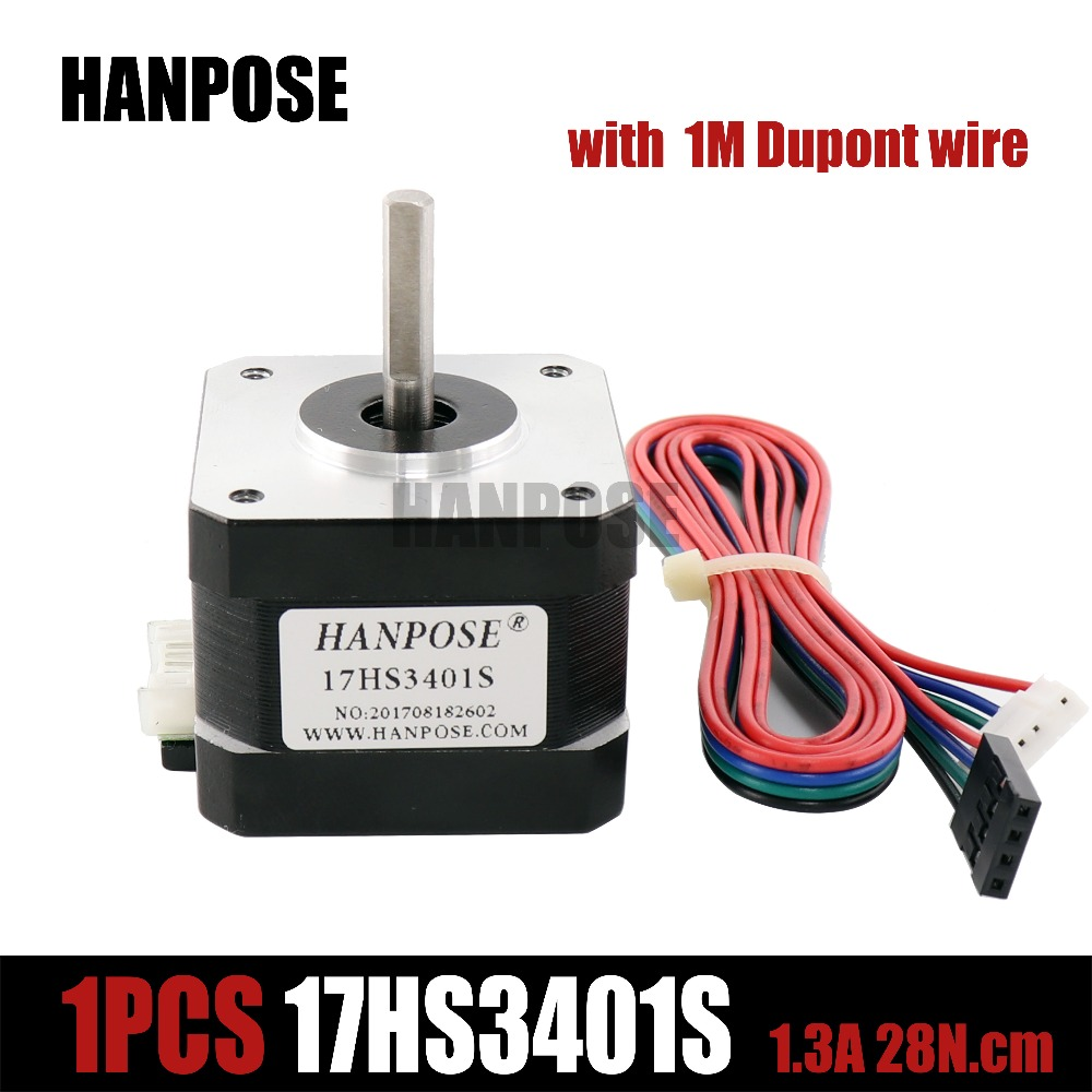 Free shipping 1pcs 17HS3401S 4-lead Nema 17 Stepper Motor 42 motor 42BYGH 1.3A CE ROSH ISO CNC Laser and for 3D printer цена