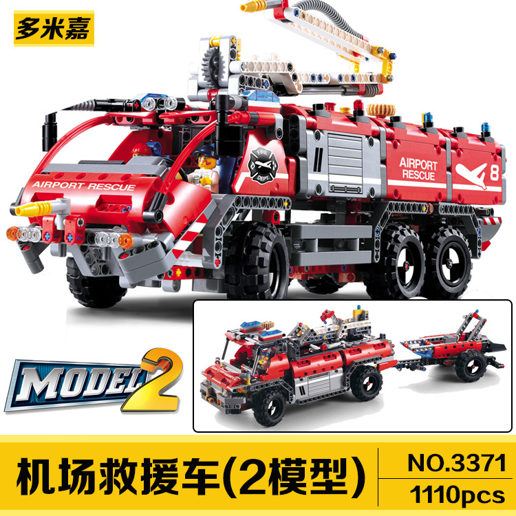 New decool  3371 2in1 Airport rescue vehicle 1110pcs technic car model Toy building blocks  bricks compatible 20055 boy gift in stock new lepin 21009 fxx 1 17 toy building blocks 632pcs technic racing sports car supercar model boy gift compatible 8156
