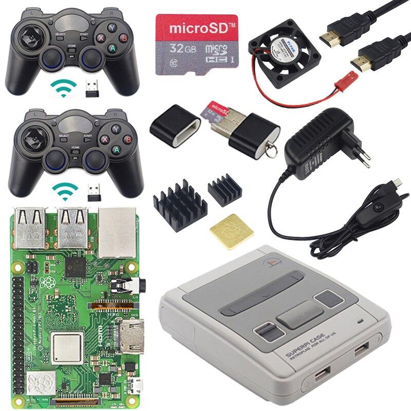 オリジナルラズベリーパイ 3 モデル B + WiFi & Bluetooth ゲームキット + ケース + 電源 + USB ゲームコントローラ用 Retrpie パイ 3B プラス  グループ上の パソコン & オフィス からの デモボード の中 2