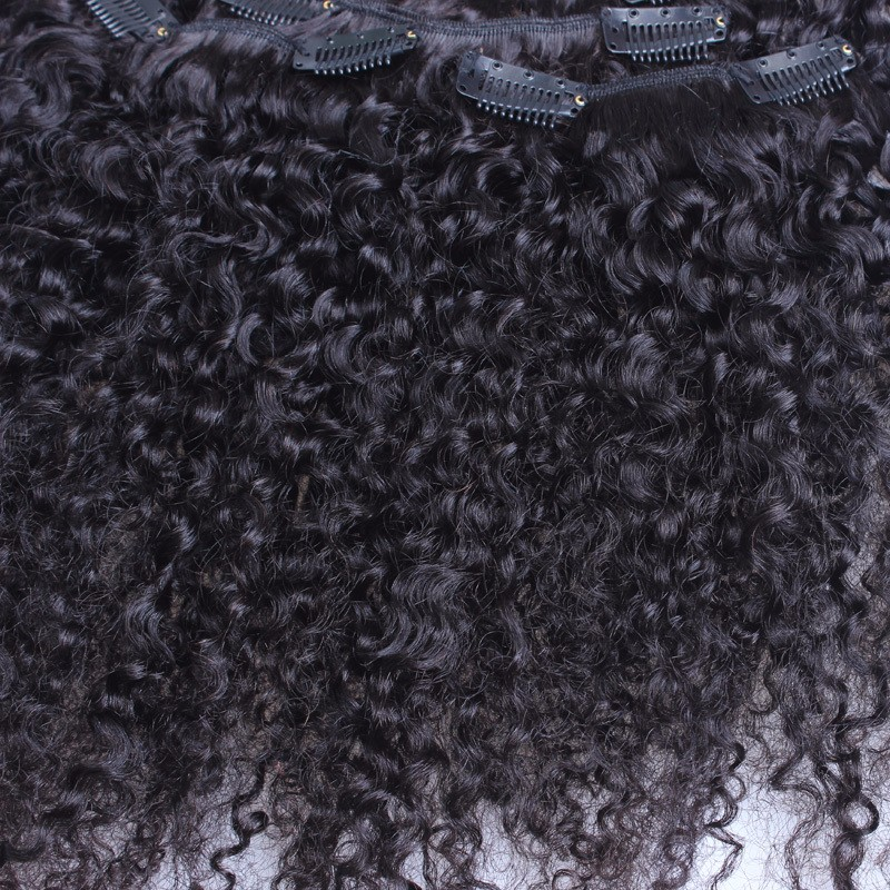 Kinky-Curly-Clip-In-Hair-Extensions-Natural-Hair-3B-3C-African-American-Clip-In-Human-Hair (1)