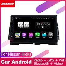 ZaiXi android car gps multimedia player For Nissan Kicks P15 2016~2019 car dvd navigation radio video audio player Navi Map