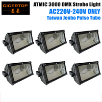 6pcs/lot ONLY 220V 240V Atomic 3000W Martin Strobe Light 3000W Strobe Lighting for DJ Equipment Led Flash Light Hi Quality