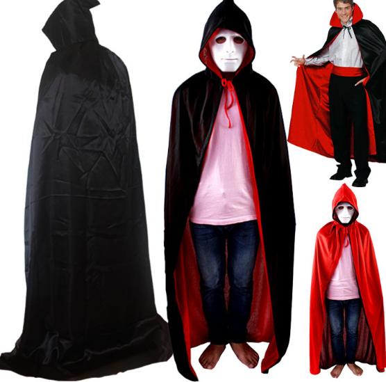 2016 Niños calientes Gótico Capa Robe Medieval Brujería Larp de Halloween Trajes de Terciopelo Con Capucha Boy Chica Vampiro
