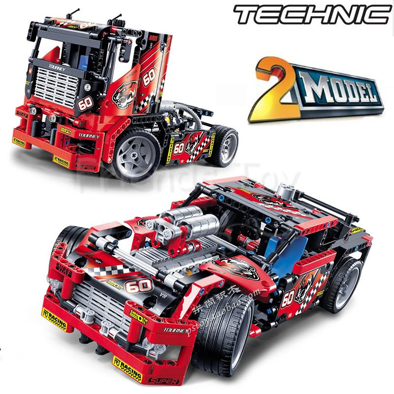 608pcs Race Truck Car 2 In 1 Transformable Model Building Block Sets DIY Toys Gift Lepin Technology 42041 Compatible With Lego lepin 02012 city deepwater exploration vessel 60095 building blocks policeman toys children compatible with lego gift kid sets