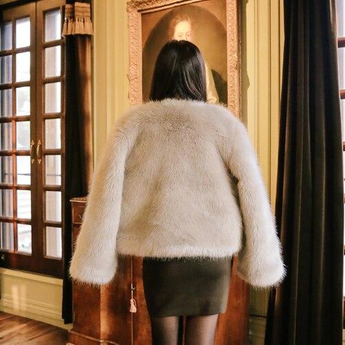 De Épaisse Haute Coréenne D'hiver Noir Chaude Et 2018 Automne Manteau Fourrure Fausse En Courte Imitation Femelle kaki rose Qualité Couleur 3 Renard AFOBqx0A