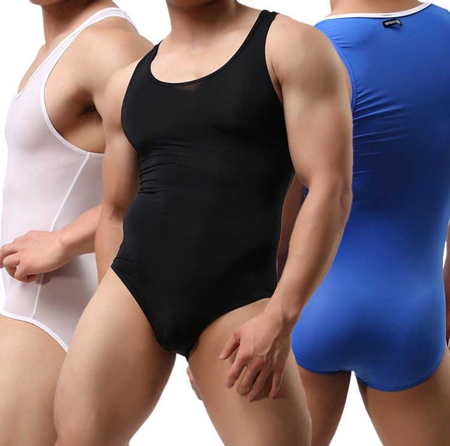 Newest Super Soft and Elastic One-Piece Bodysuit Men's Shapers Solid Tight Singlet Mens Wrestling Singlet Spandex Jumpsuit