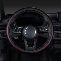 Car steering wheel cover,auto accessories for ford explorer 2017 fiesta mk7 focus 1 2 3 2005 2006 2009 mk2 mk3