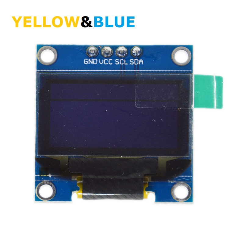 0.96 inch Yellow blue double color OLED LCD LED Display Module IIC Communicate 0.96 128X64 compatible arduino