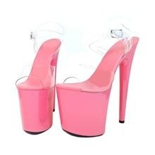 Leecabe New designs Normal Pink 20cm Platform Shoe for pole dancing or  model show shoes 71353390d803