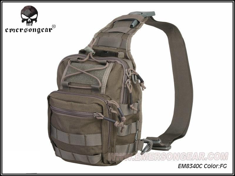 ФОТО Emerson Men Nylon Military Travel Riding Crossbody Messenger Shoulder Backpack Sling Chest Bag Hunting Accessories EM8340 FG ^