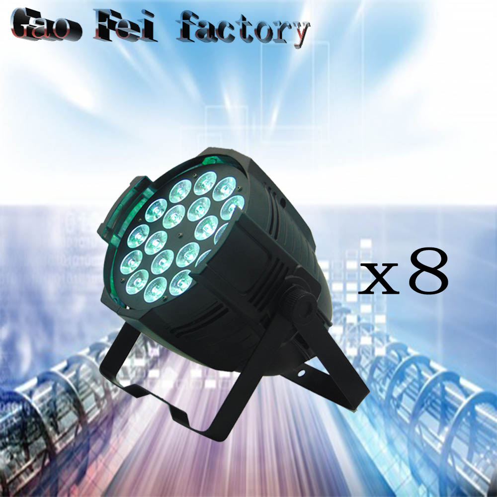8pcs/lot Aluminum alloy 18x12W RGBW 4in1 LED Par Can Par64 led spotlight dj stage light цена