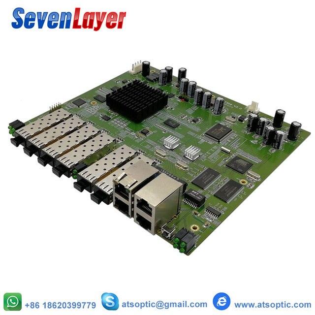 EPON OLT 4PON puertos FTTH CATV OLT portador de fibra óptica de alta densidad de alta calidad 1,25G profesional mini