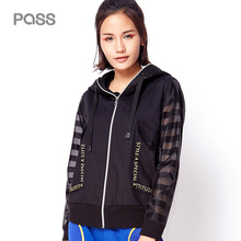 PASS 2017 Autumn New Hoodies Jacket Zipper Pocket Casual Coats Patchwork Character Tops