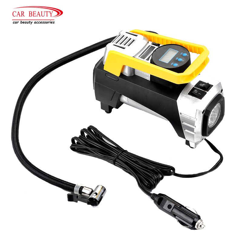 DC 12V 120W 150 Psi Air Compressor Pump Portable Digital Tire Inflator Car Air Pump with Emergency LED Light Auto PumpDC 12V 120W 150 Psi Air Compressor Pump Portable Digital Tire Inflator Car Air Pump with Emergency LED Light Auto Pump