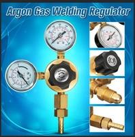 Pressure Regulator Argon Gas Welding Twin 2 Gauge Single Stage Side Entry Aquarium Flow Meter Control Valve Reducer Bubble