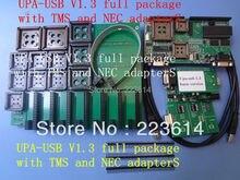 Última UPA USB PROGRAMADOR UPA-USB V1.3 paquete completo con TMS y NEC adaptadores adaptadores llenos versión envío gratis