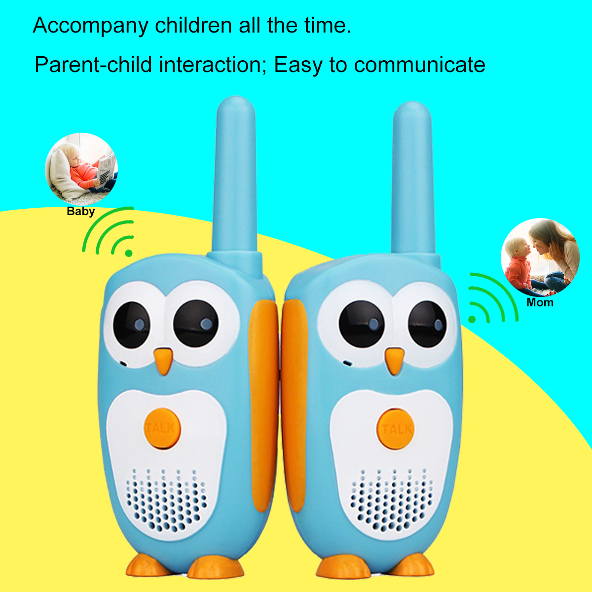 Image 2 - 2pcs Retevis RT30 Mini Walkie Talkie Kids Radio Station 0.5W PMR FRS UHF Radio 1 Channel 2 button Simplest Operate For Kids Toy-in Walkie Talkie from Cellphones & Telecommunications