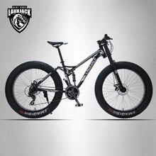 LAUXJACK горный велосипед стальная рама 24 скорости Shimano механические тормоза 26″x4.0 колеса удлиненная вилка FatBike