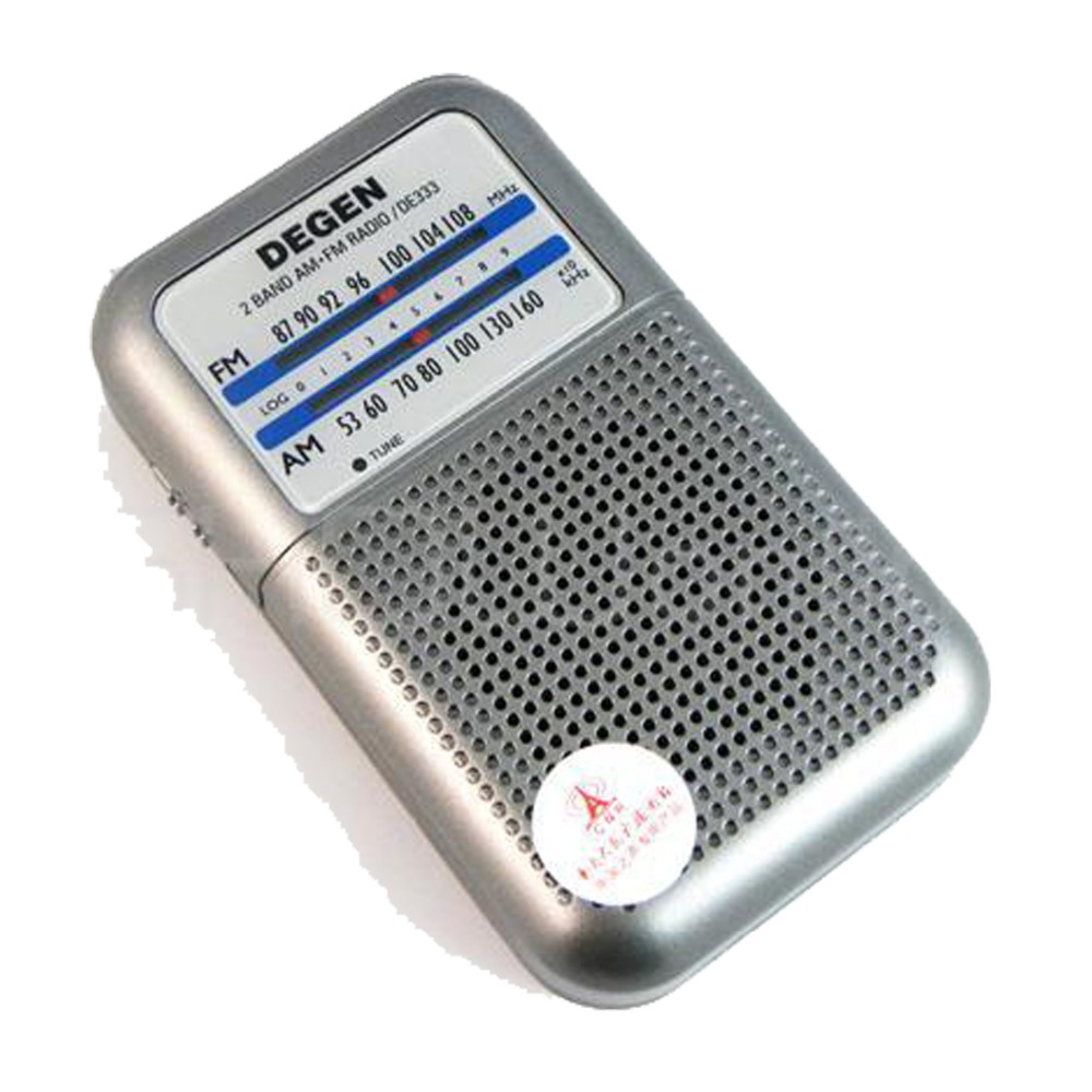 Mini DEGEN DE333 FM AM Radio Receiver Pocket Radio Portable 2 Band Radio Multiband A0796A 5pcs pocket radio 9k portable dsp fm mw sw receiver emergency radio digital alarm clock automatic search radio station y4408