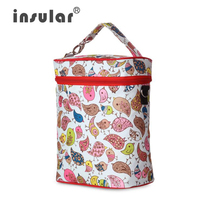 Mummy Storage Bags 420D Nylon Colorful Baby Feeding Bottle Thermal Insulation Baby Diaper Bags Bottle Bags