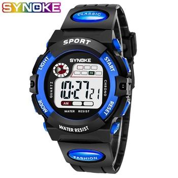SYNOKE Children watch Digital Luxury kids waterproof Sport Watches Student Stop Wristwatch led Children's Electronic Clock reloj