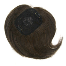 Soowee 4 Colors Synthetic Hair Black Brown Toupees Hairpieces Straight Top Hair Bang Closures for Men and Women(China)