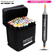 FINECOLOUR 36 48 60 72 Colors Artist Double Headed Manga Brush Markers Alcohol Based Sketch Paint