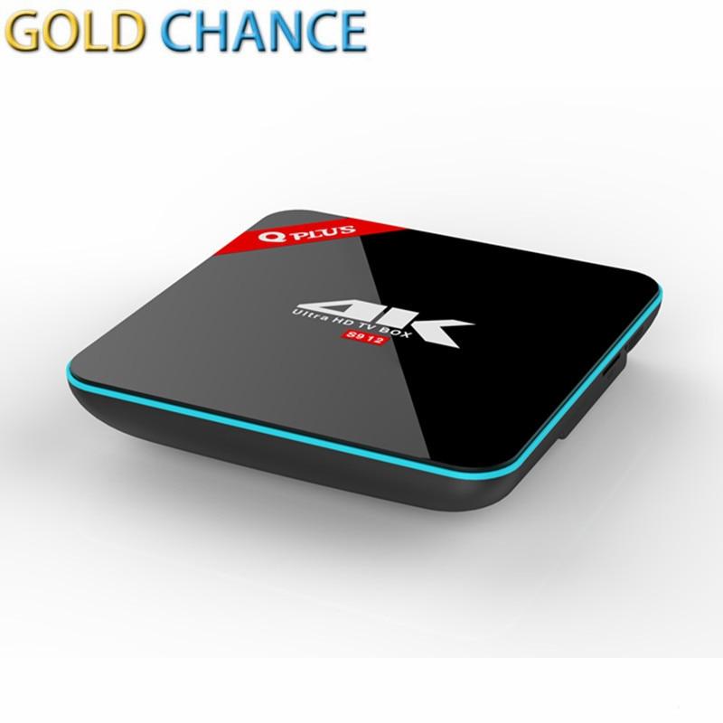 ФОТО Newest Q box plus Amlogic 912 Android Tv Box 6.0 2G/16G 1000M LAN 2.4G/5G Wifi Bluetooth 4.0 Kdplayer smart media player Q plus