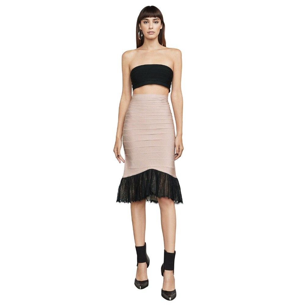 Sexy femmes mode élégante célébrité corps con dentelle robe dos nu bretelles sirène bandage robes de soirée en gros