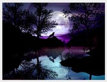 Night Landscape Moon Color Diamond Painting DIY Mosaic 5D Full Square Embroiderey Cross Stitch Art Decoration