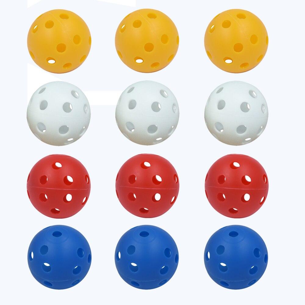 12Pcs 41mm Golf Training Balls Plastic Airflow Hollow With Hole Golf Balls Outdoor Golf Practice Balls Golf Accessories