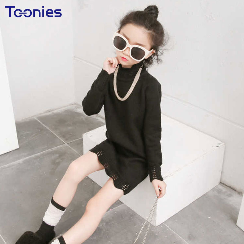 Girl Dress Knitted Girls Dresses Long Sleeved Child Dress Newest Cute Princess Kid Vestidos High Quality Costumes Casual 3 Color цены онлайн