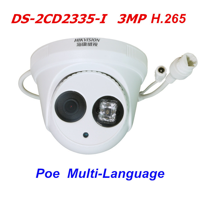 Multi-Language Hikvision DS-2CD2335-I 3MP POE H.265 Network Camera Replace DS-2CD2332-I Dome  CCTV Camera hikvision ds 2cd3345 i 1080p full hd 4mp multi language cctv camera poe ipc onvif ip camera replace ds 2cd2432wd i ds 2cd2345 i