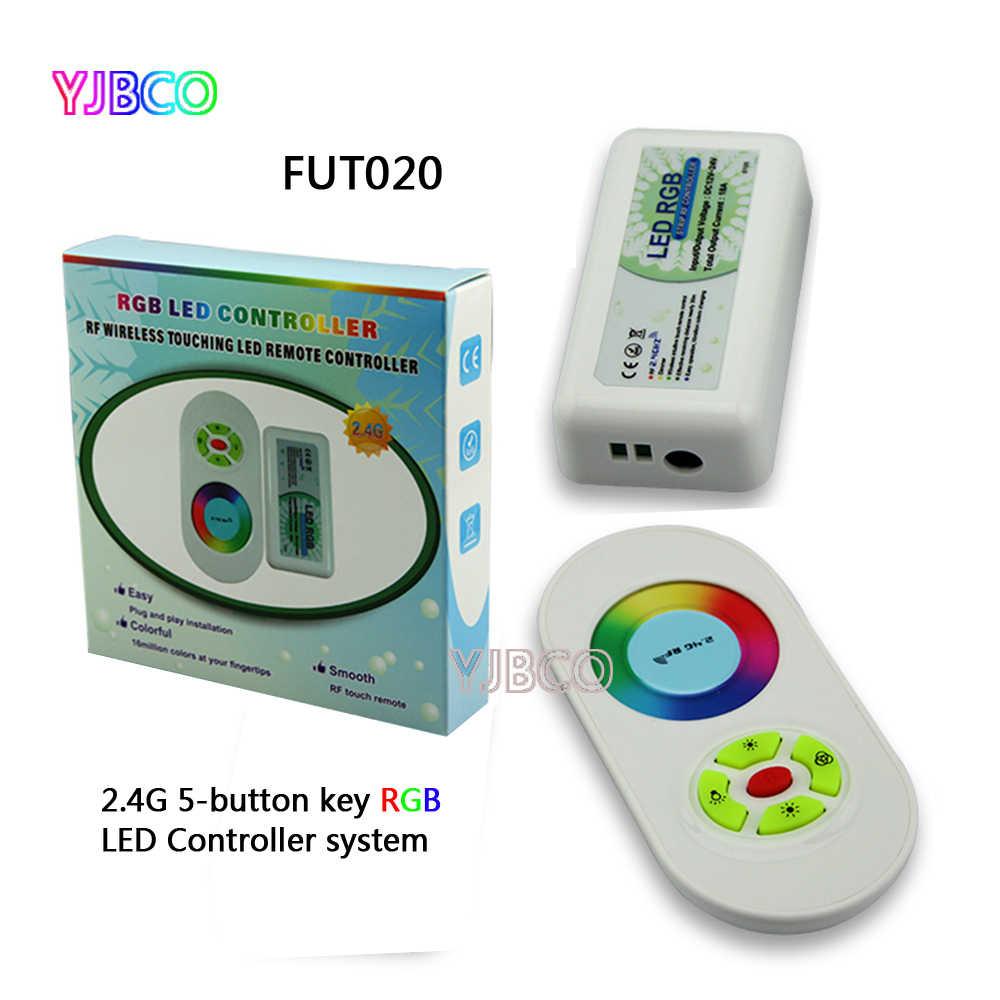 Milight FUT020 2,4G 5-Кнопка Ключевые 10A RF светодиодный RGB контроллер для RGB 5050 3528 3014 светодиодный полосы света, DC12V/24 V