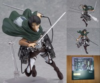 Attack On Titan Shingeki No Kyojin Rivaille Figma 213 Boxed PVC Action Figure Model Collection Toy