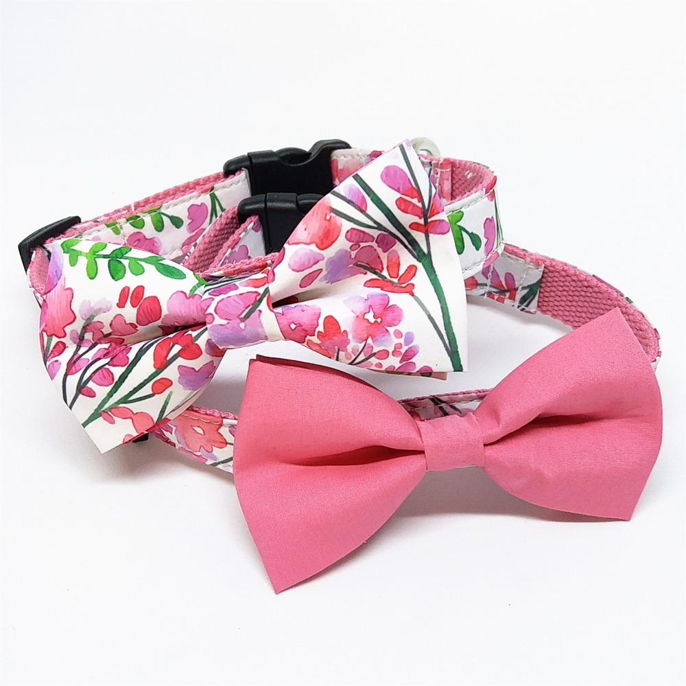 Aliexpress.com : Buy Pink Dog Collar Bows,Valentine's Day