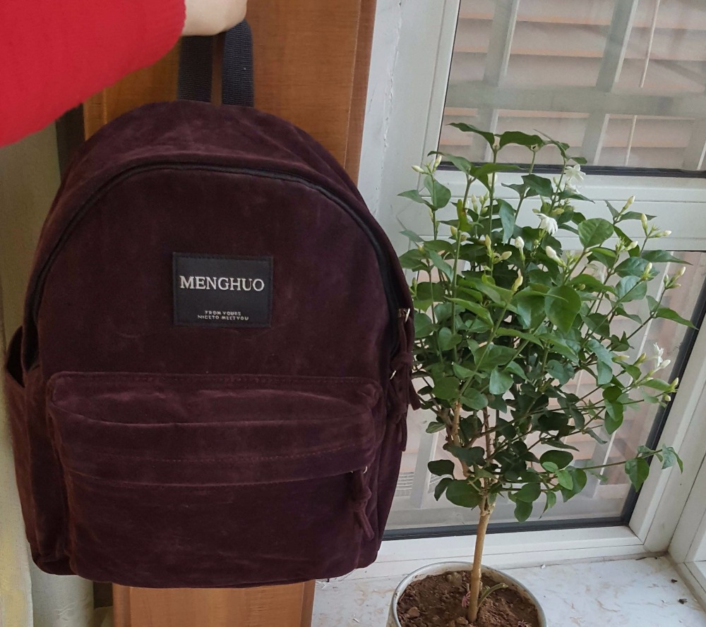 backpack suede bag (2)