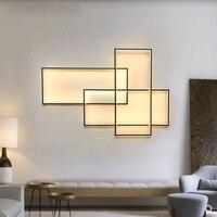 Современный минималистский площадь аллюминевых светодиодный настенный светильник двойной использовать творческий геометрический пульт