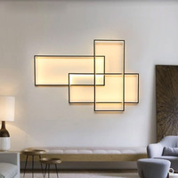 Modern minimalist square alluminum LED wall lamp dual use creative geometric remote control dimmable wall sconce lighting lamp