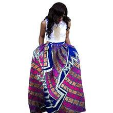 купить African Clothes Fashion Flower Print A-line Skirt Women Vintage Skirt дешево