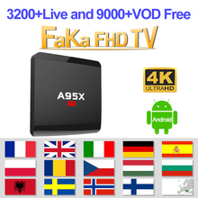 France Italy IPTV A95X R1 Box 1-month IP TV Turkey Portugal Arabic Subscription 4K French Full HD UK Canada German