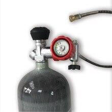 Ac168301 tanque de mergulho 6.8l ce alta pressão cilindros cilindro gás regulador ar comprimido paintball pcp
